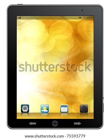 Tablet computer & mobile phone. - stock photo