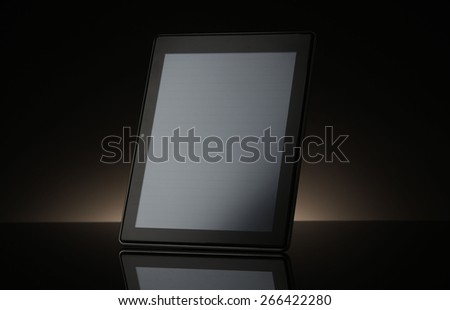 Tablet computer  on  black background - stock photo