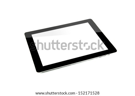 Tablet computer on white background - stock photo