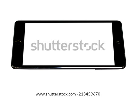 Tablet computer (tablet pc) on white background - stock photo