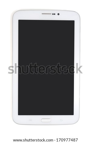 Tablet computer with clipping path
