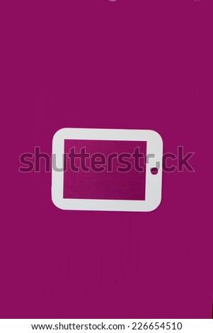 tablet icon - stock photo