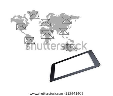 Tablet PC and e-mail sign