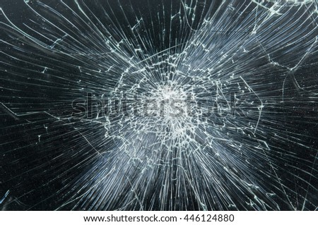 Tablet-PC 3D with broken Touchscreen on white and reflective studio floor - stock photo