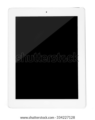 Tablet PC, isolated on white - stock photo