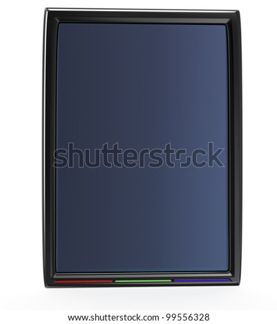 tablet pc isolated on white background. 3d rendered image