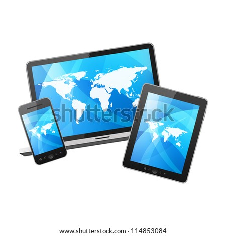 Tablet pc, mobile phone and notebook