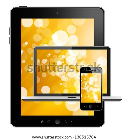 Tablet pc, notebook and mobile phone
