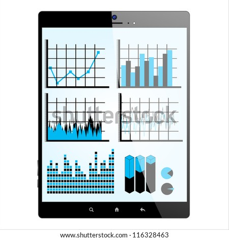 Tablet PC with statistics on screen