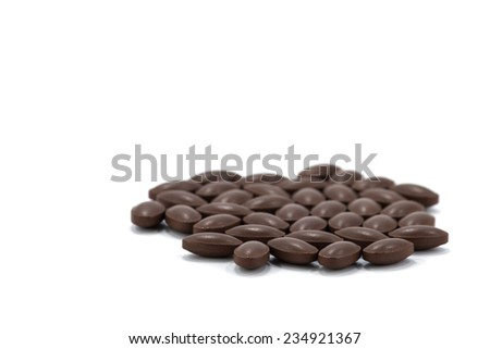 tablet pill on white background