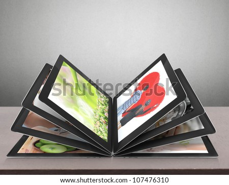 tablet streaming images - stock photo
