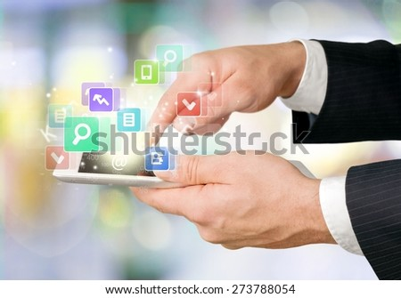 Tablet, white, touch.