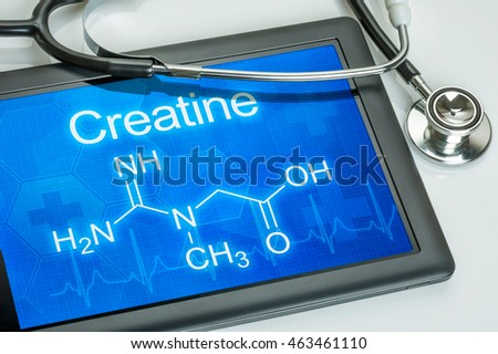 Tablet with the chemical formula of Creatine