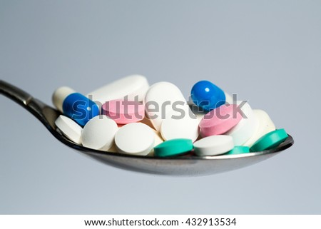 Tablets and pills. Health and Medicine. - stock photo