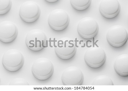 Tablets capsule therapy pills flu in a Blister packaging antibiotic pharmacy medicine medical - stock photo
