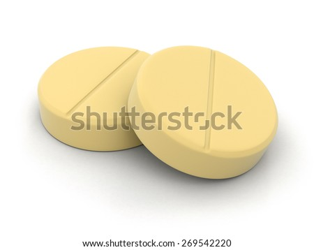 Tablets (clipping path included) - stock photo