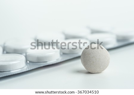 Tablets medicine for people's health to heal diseases the focus has been chosen by me so