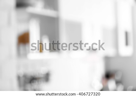 Tableware and kitchenware on a shelf - stock photo