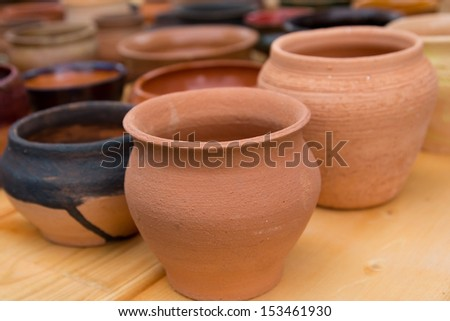 tableware made �¢??�¢??of clay