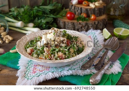 Tabula light snack middle east couscous stock photo royalty free tabula a light snack of the middle east from couscous with parsley and mint forumfinder Choice Image
