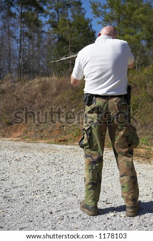 Tactical police training on the shooting range