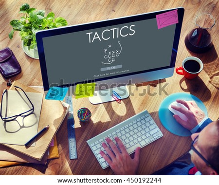 Tactics Strategy Planning Process Solution Vision Concept - stock photo