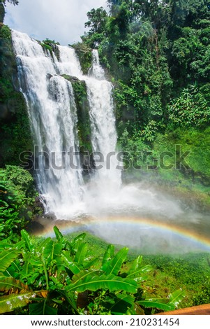 Tad Yueang Waterfall in southern Laos