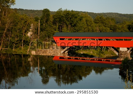 Taftsville Covered Bridge - stock photo
