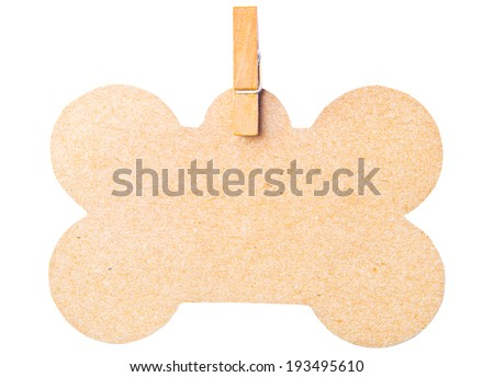 tag isolated on white background, clipping path - stock photo