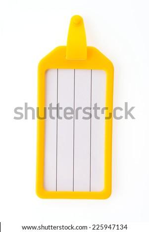 Tag luggage bag isolated on white background - stock photo
