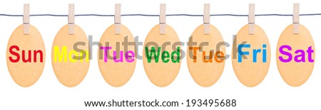 Tag tied with black string isolated against a white background, clipping path. - stock photo