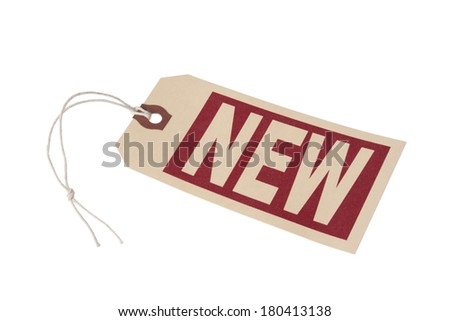 tag with word New  - stock photo