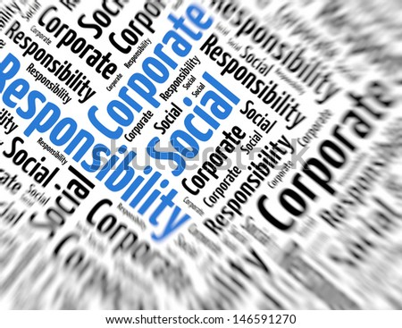 Tagcloud - Corporate social responsibility - stock photo