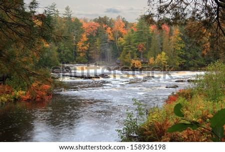 Tahquamenon Falls State Park island upper Peninsula Michigan in the Autumn