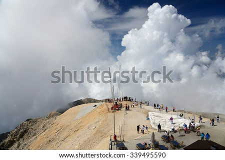 Tahtali mountain, Turkey, June 7, 2015. View from the Tahtali mountain - stock photo