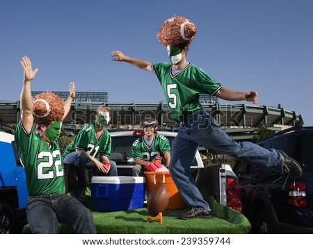 Tailgating Football Fans - stock photo