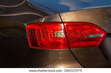 Taillight on a modern car. - stock photo