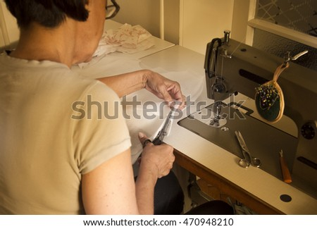 Tailor in workshop