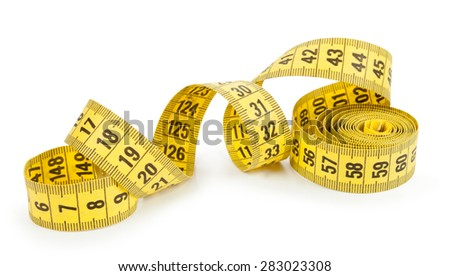tailor's tape isolated on white background