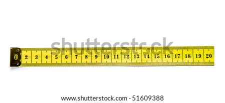 tailor tape measure ruler for design, isolated on white