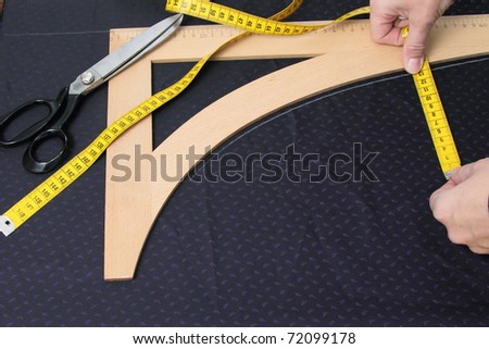 Tailor working - stock photo