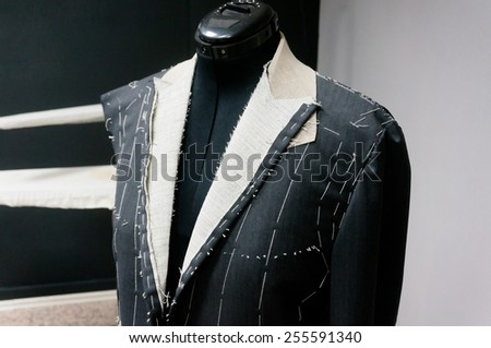 tailoring a suite - stock photo