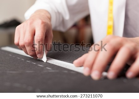 Tailoring, tailor, clothing. - stock photo