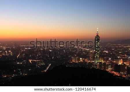 Taipei City skyline - stock photo