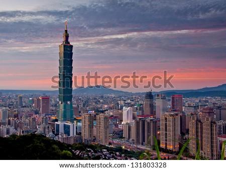 Taipei Cityscape - stock photo
