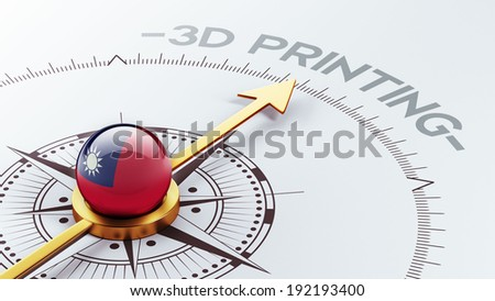 Taiwan High Resolution 3d Printing Concept - stock photo