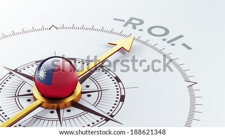 Taiwan High Resolution ROI Concept - stock photo