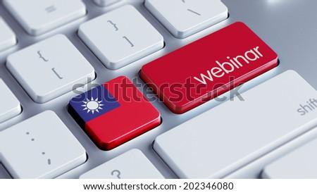 Taiwan High Resolution Webinar Concept - stock photo