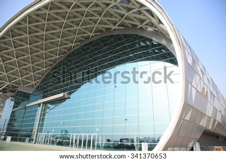 Taiwan - October 31 2015: (Kaohsiung Exhibition Center?KEC) The building became the first member base has made the wisdom of building the Convention Center, October 18, 2013 completion.