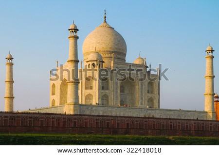 Taj mahal closeup view - stock photo